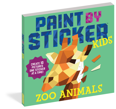 Paint By Stickers Kids Zoo Book