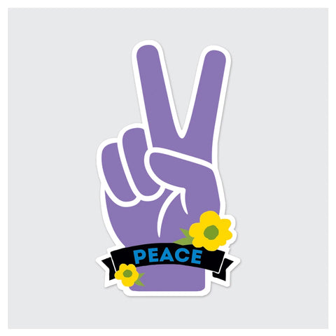 Peace Hand Sticker