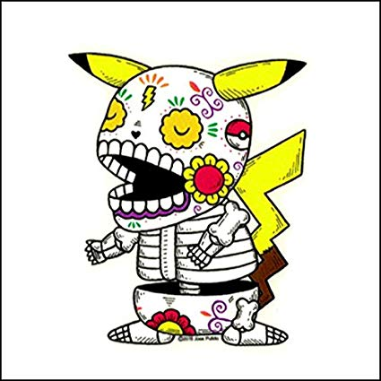 Pikachu - Day of the Dead Sticker