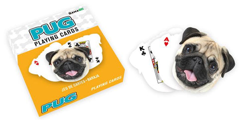 Pug Shaped Playing Cards