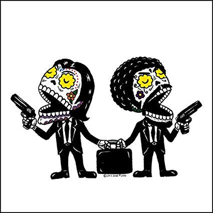 Pulp Fiction - Day of the Dead Sticker