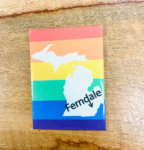 Rainbow Ferndale Arrow Magnet