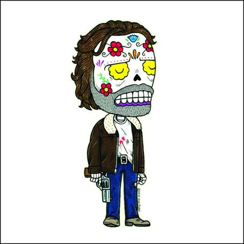 Rick Grimes - Day of the Dead Sticker
