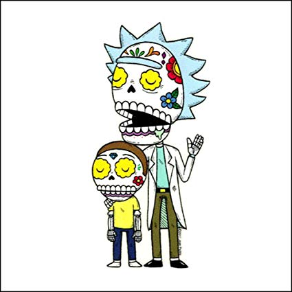 Rick & Morty Day Of The Dead Sticker