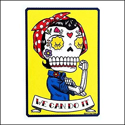 Rosie the Riveter - Day of the Dead Sticker