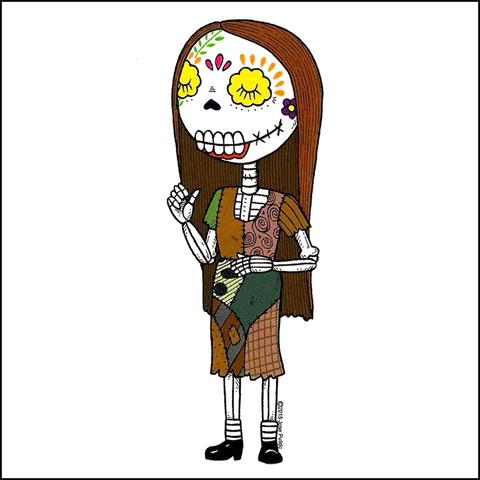 Sally - Day of the Dead Sticker