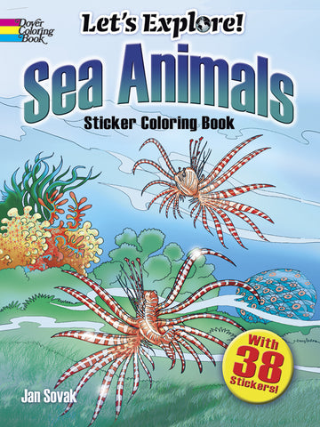 Sea Animals Sticker Coloring Book