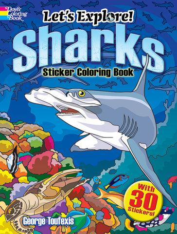Sharks Sticker Coloring Book