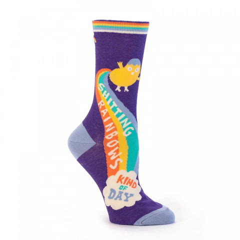 Shitting Rainbows Women's Socks