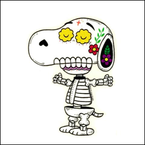 Snoopy - Day of the Dead Sticker