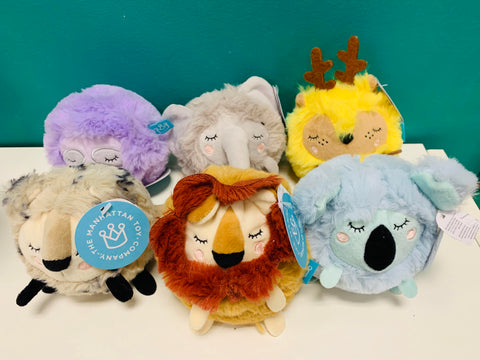 Squeezmeez Animal Plush Ball (Choose One)