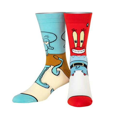 Squidward/Mr.Krabs Multicolor Socks