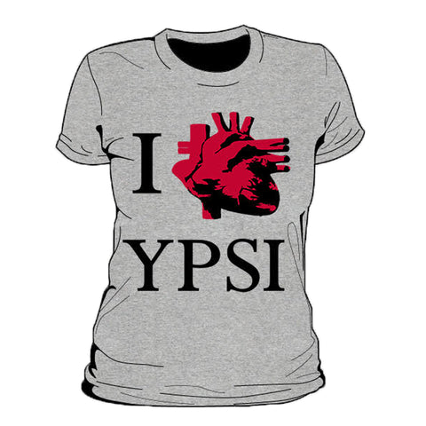 I Heart Ypsi Real Women's T-Shirt