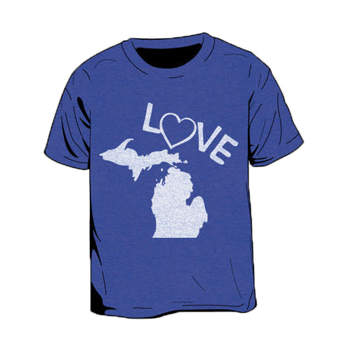 Love Michigan Kid's T-Shirt
