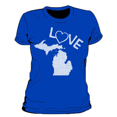 Love Michigan Women's T-Shirt