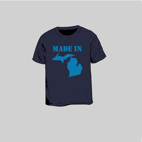 Made In Michigan Toddlers T-Shirt