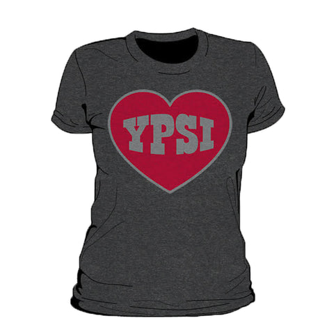 Ypsi Heart Metallic WOMEN'S T-SHIRT
