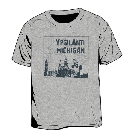Ypsilanti Michigan Map Kid's T-Shirt