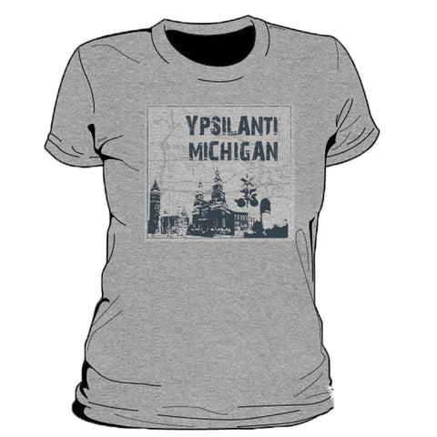 Ypsilanti Michigan Map Women's T-Shirt