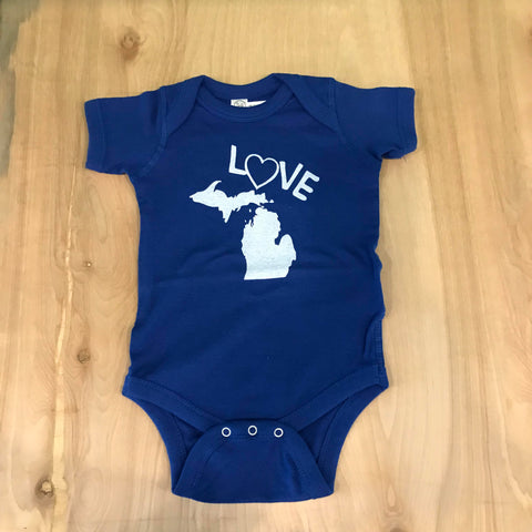 T Love Michigan Onesie