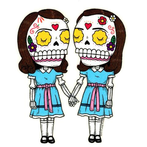 The Shining Twins - Day of the Dead Sticker