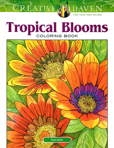 Tropical Blooms Coloring Book