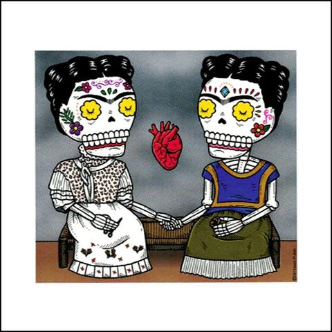 Two Fridas - Day of the Dead Sticker
