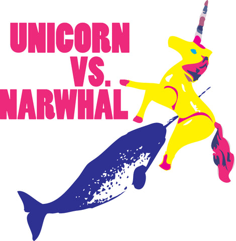 Unicorn vs. Narwhal Sticker