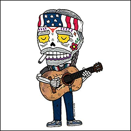 Willie Nelson - Day of the Dead Sticker