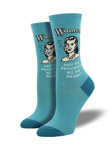 Women All The Brains Socks