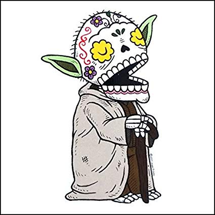 Yoda - Day of the Dead Sticker