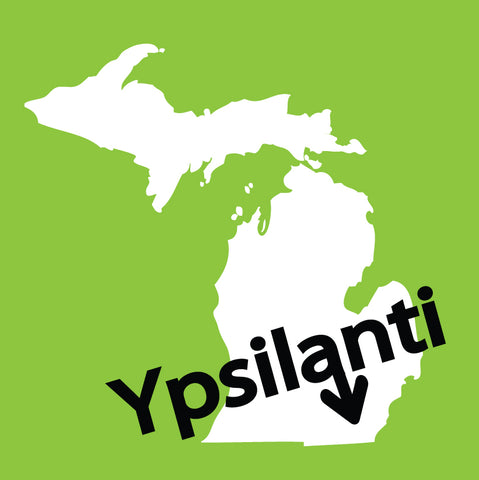 Ypsilanti Arrow Green Sticker