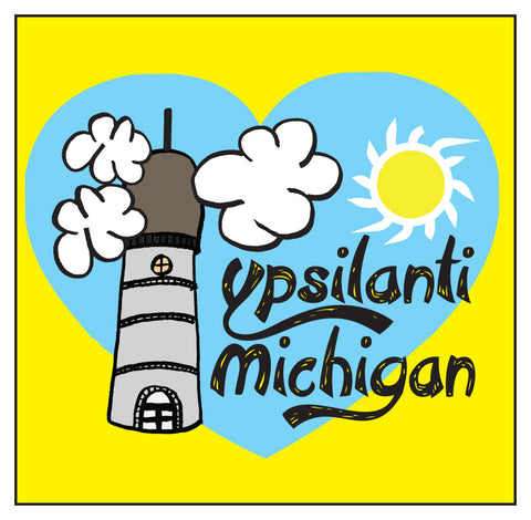 Ypsilanti Cartoon Sticker