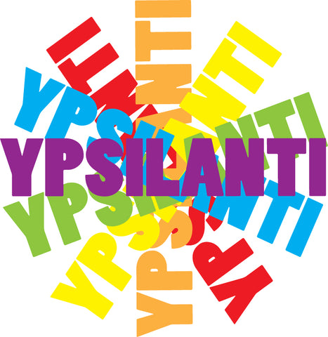 Ypsilanti Rainbow Twirl Sticker