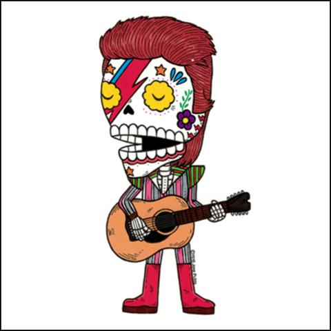 Ziggy Stardust - Day of the Dead Sticker