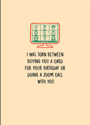 Zoom Call Birthday Greeting Card