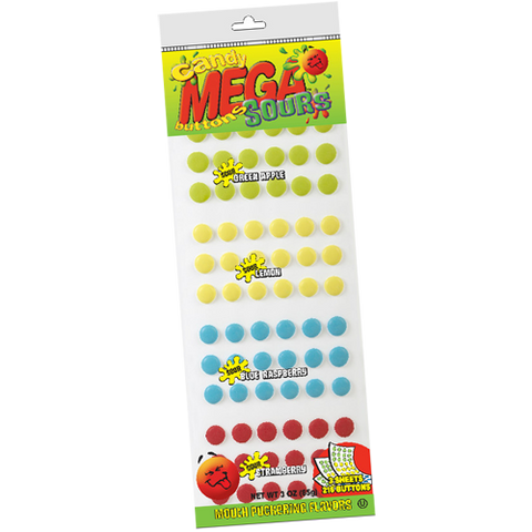 Candy Buttons Mega Sour