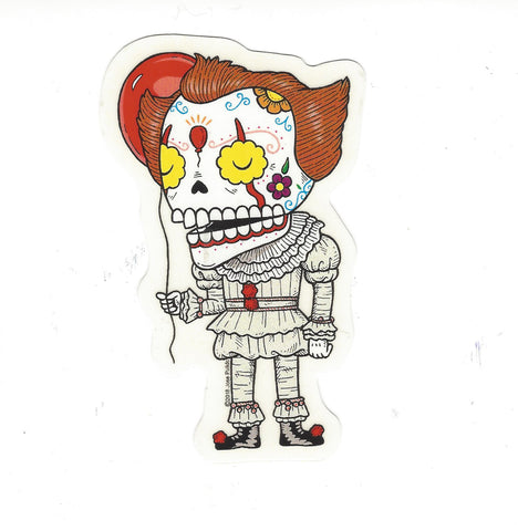 Pennywise Skull Sticker