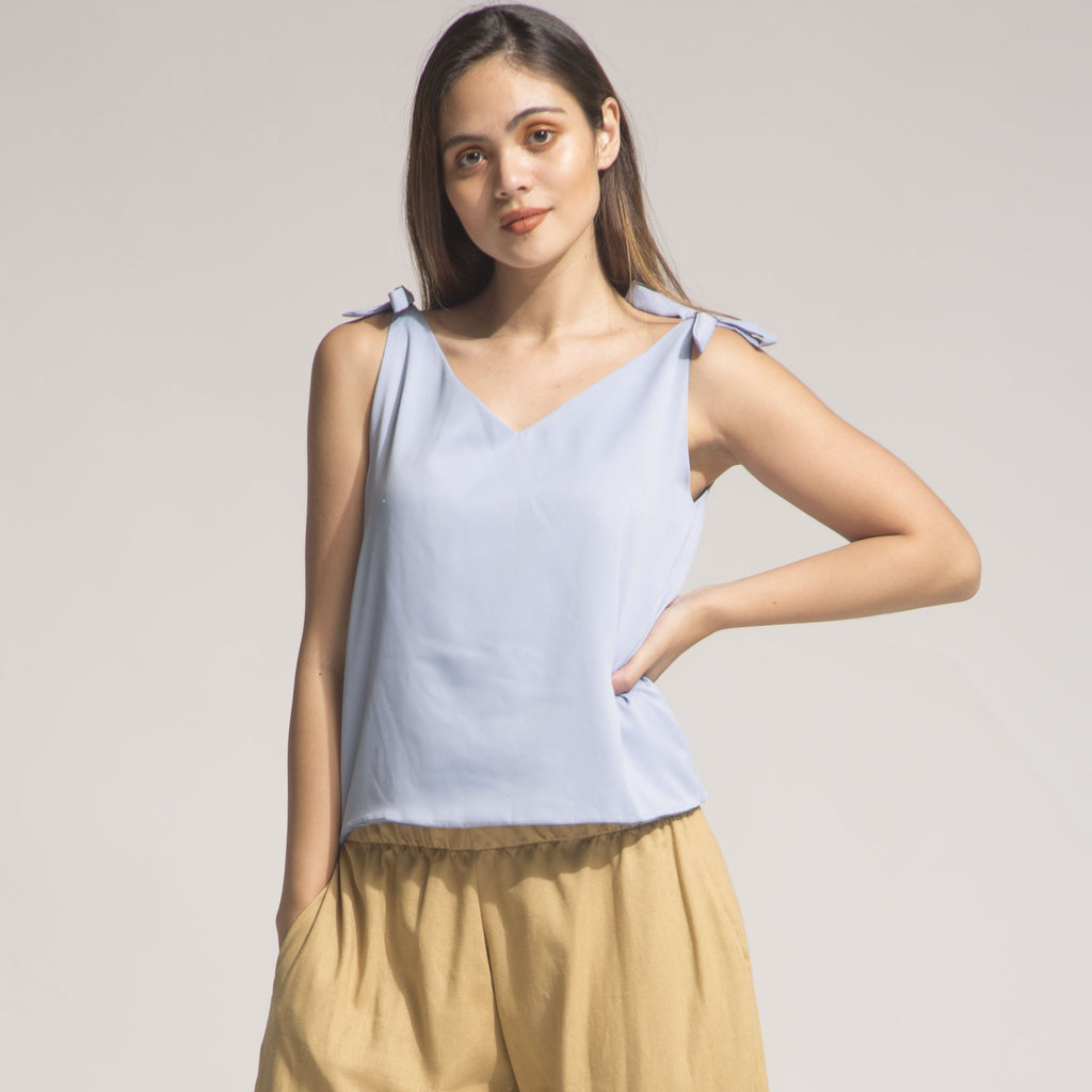 VENICE Shoulder Knot-Tie Top