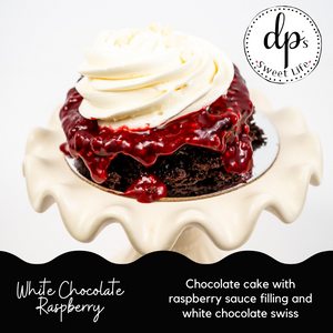 White Chocolate Raspberry - Cupped Cake