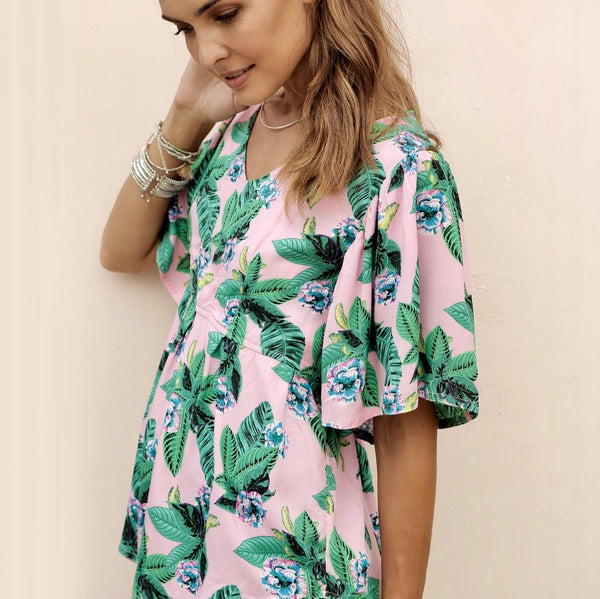 Maddie Top Pink Jungle