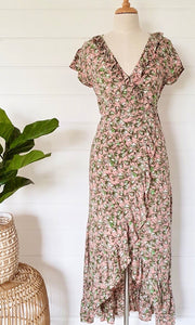 Lucy Wrap Maxi Dress Magnolia