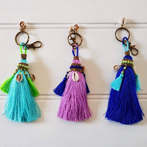 Keyring - Coloured Tassels