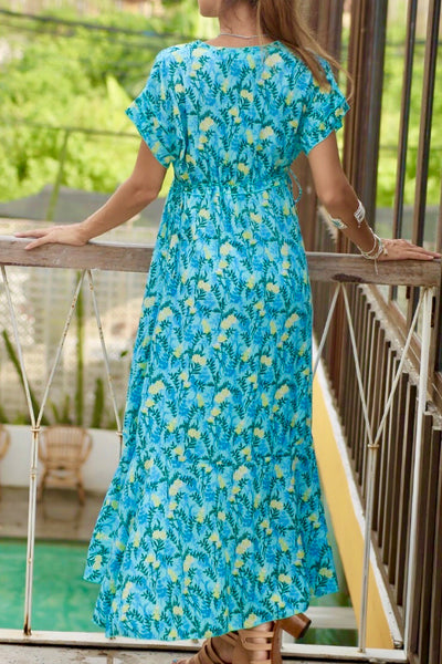 Chloe Maxi Dress Aqua Fern