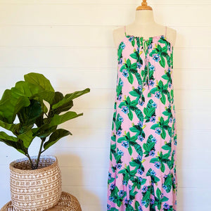 Ava Maxi Dress Pink Jungle