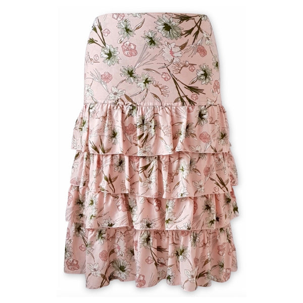 Isabella Midi Skirt Rose