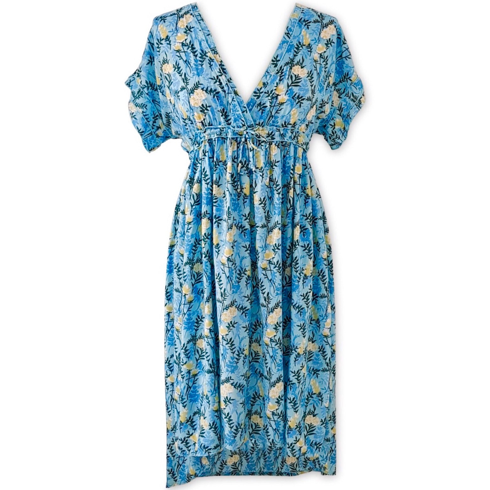 Chloe Midi Dress Aqua Fern
