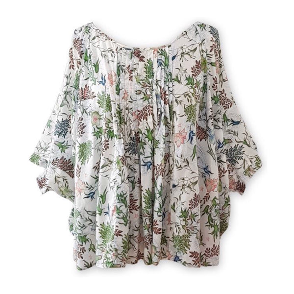 Billie Top White Floral