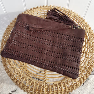 Boho Clutch in Chocolate