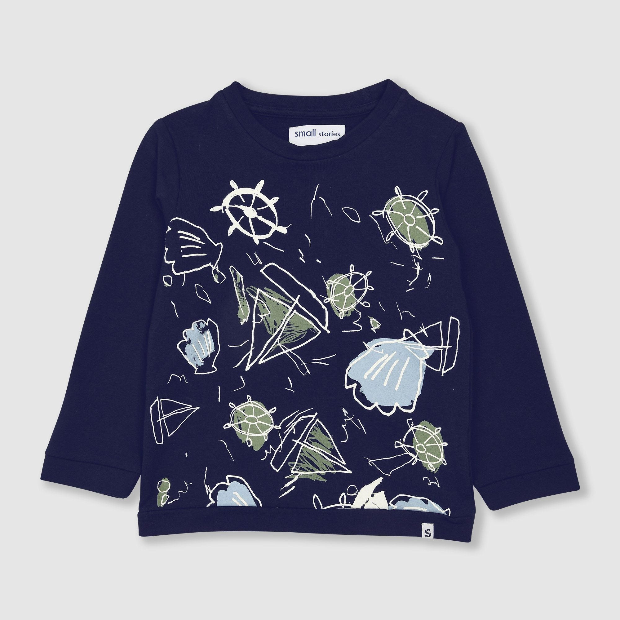 Sketchbook Print Sweater